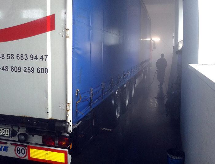 Myjnia samochodów ciężarowych